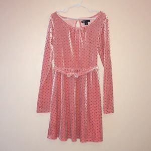 GapKids pink with gold glitter polka dots Size M/8
